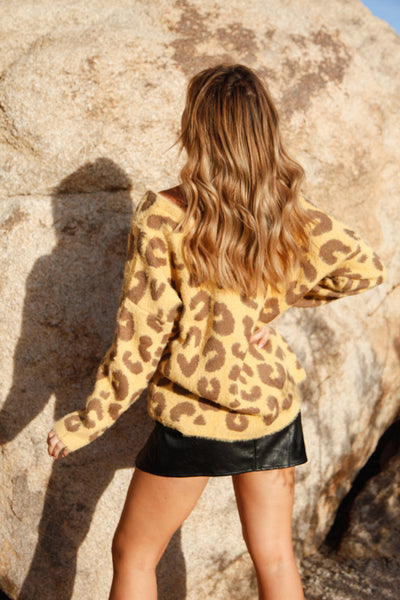Sweetest Sun Leopard Sweater