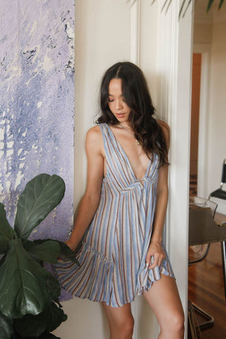 Bali Nights Striped Dress