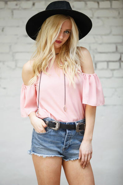 Pastel Dreams Cold Shoulder Top