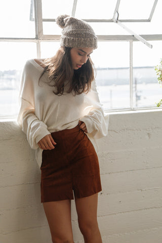 Gold Dust Suede Skirt