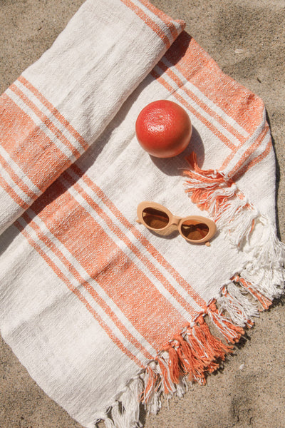 Stay Awhile Striped Beach Blanket