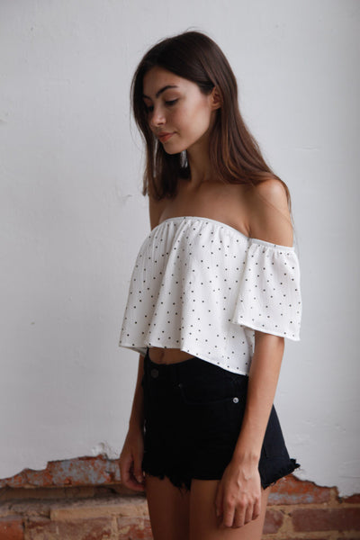 Reverse Little Miss Off The Shoulder Top