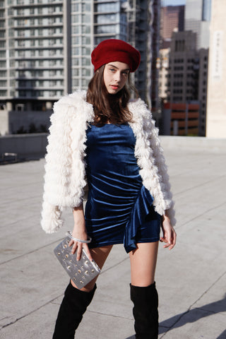 Waterfall Fringe Shag Jacket