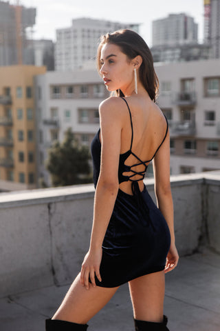 Midnight Muse Velvet Dress