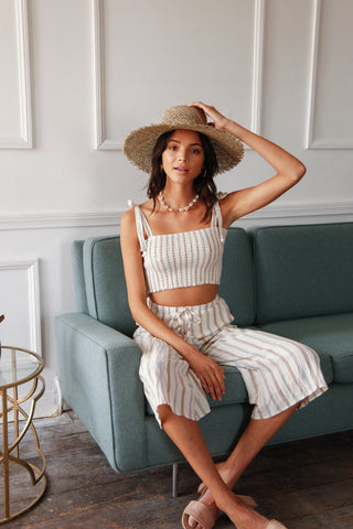 Malibu Striped Pant Set