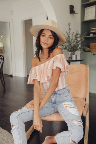 Rosie Smocked Off Shoulder Top