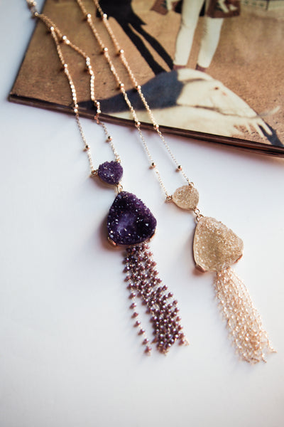 Lina Geode Beaded Necklace