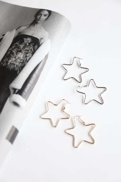 Morgan Star Hoop Earrings
