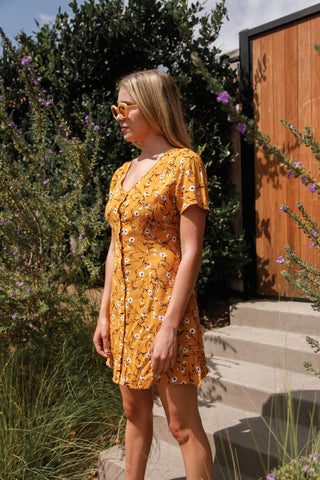 Reverse Meadows Button Up Dress