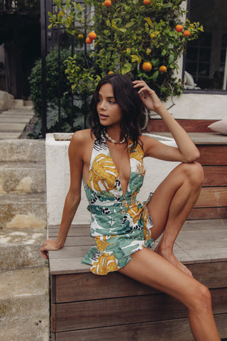 Palm Springs Halter Romper