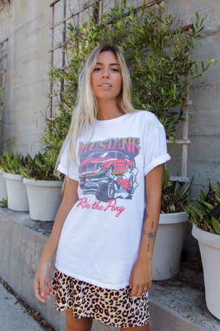 Junk Food Mustang Ride The Pony Tee