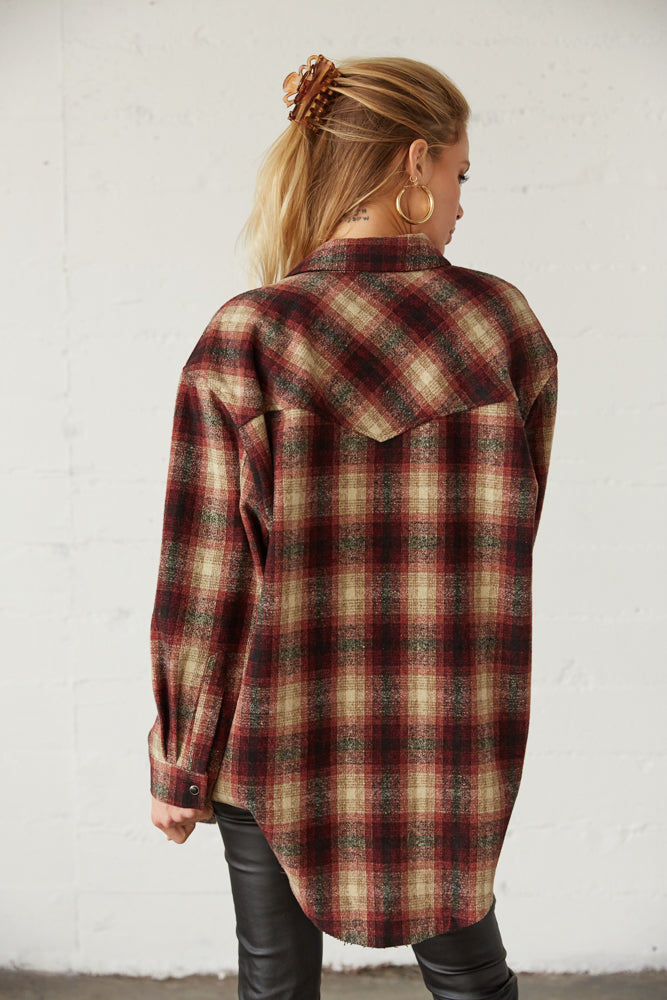 The back of this jacket is relaxed and oversized.