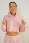 Sunday Skin cropped hoodie sweater.