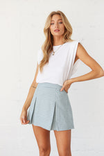 High rise mini skirt.
