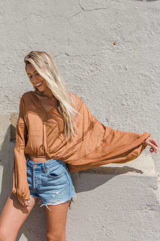 Copper Blue Emilia Wrap Top