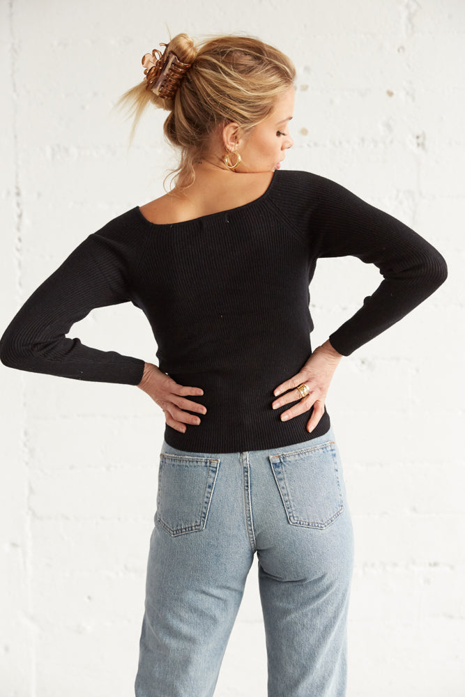 The back of this top is ribbed for an easy fit.