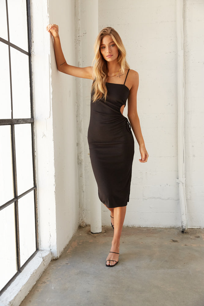 Zaira Ribbed Midi Dress