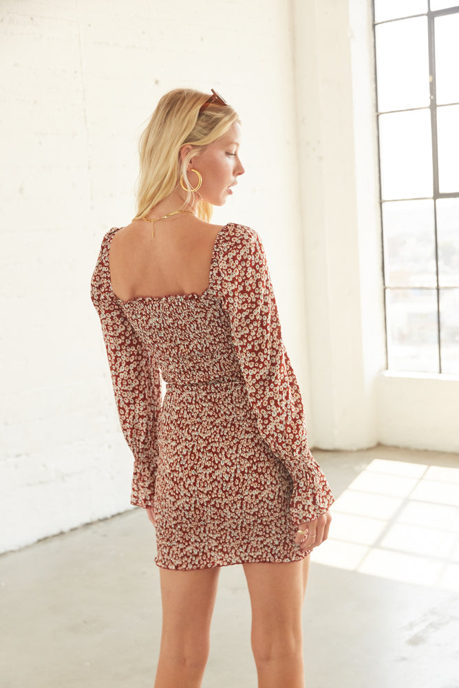 The back of this dress is smocked for the perfect fit.