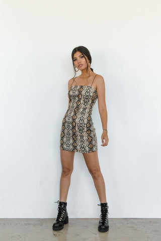 Native Daughters Dazed Snakeskin Dress