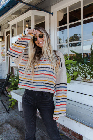 Just A Dream Striped Sweater
