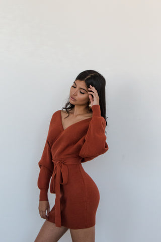 Chicago Wrap Sweater Dress