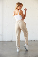 The back of these joggers are simple and relaxed.