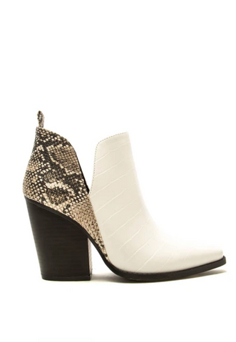 Cascades White Crocodile Booties