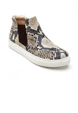Matisse Harlan Pull On Sneakers in Snakeskin