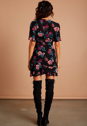 Lola Floral Front Tie Dress