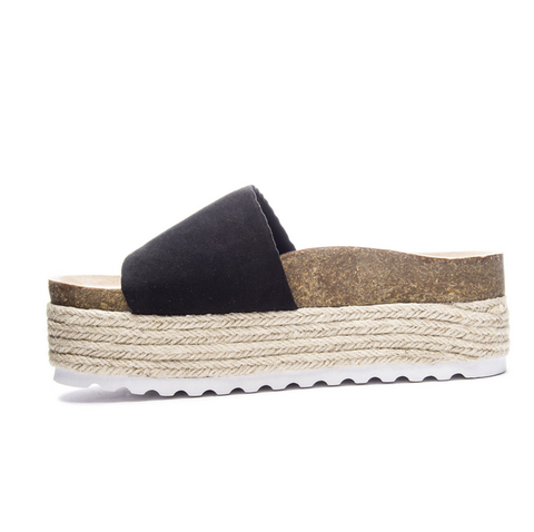 Chinese Laundry Pippa Sandal In Black Micro Suede