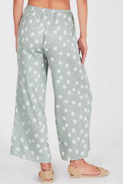 Amuse Society Barefoot Pant In Palm Green