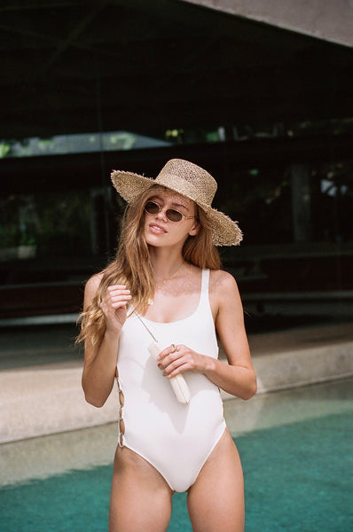 Lack of Color Sunnydip Fray Boater Hat