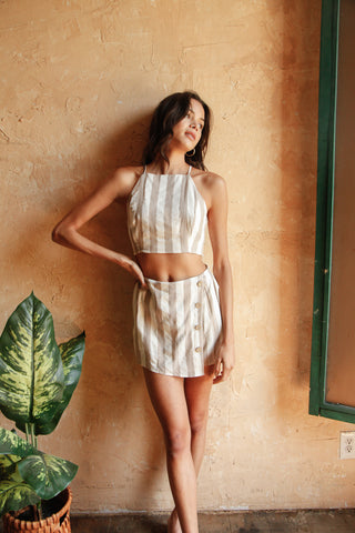 Savannah Striped Skort Set