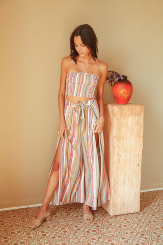 Brighter Days Striped Pant Set