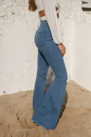 Just Right Pull On Denim Flares