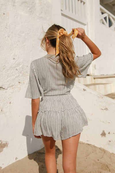 High Tide Striped Short Set
