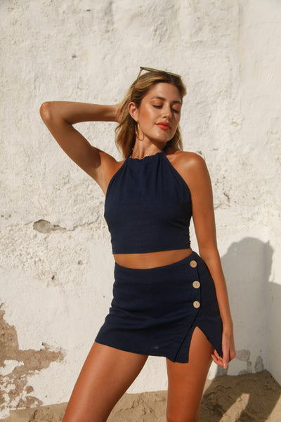Half Time Skort Set In Navy