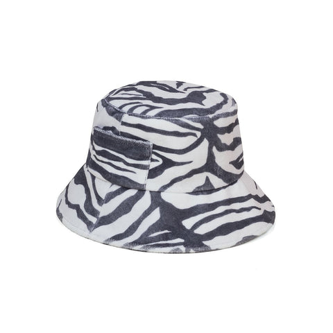 Lack of Color Wave Bucket Hat In Zebra