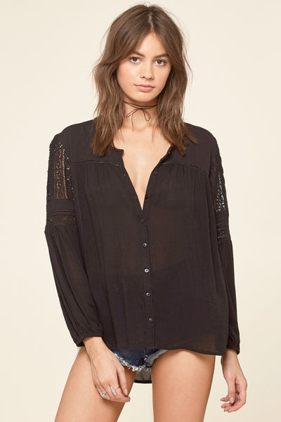 Amuse Society Crawford Woven Top