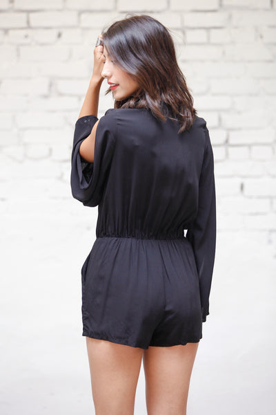 Down Low Tie Front Romper