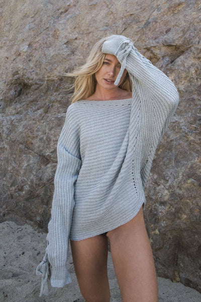 Ocean Eyes Off Shoulder Sweater