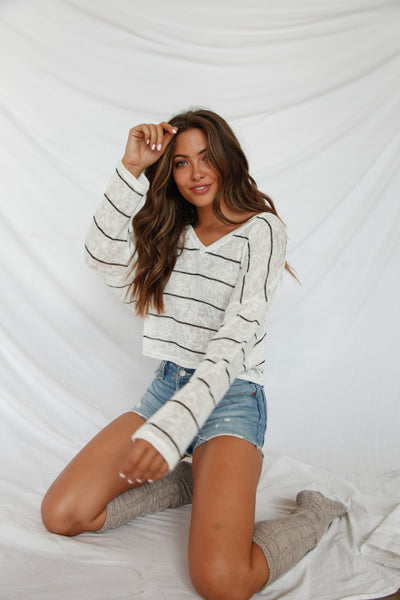 Virgo Striped Knit Top