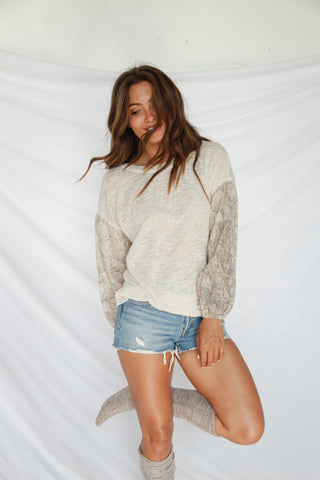 Outlaw Snakeskin Knit Top