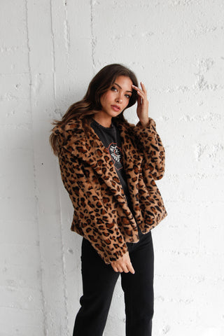 All For You Leopard Faux Fur Coat