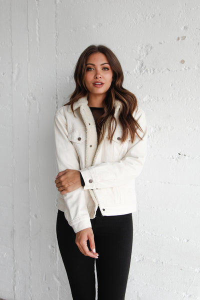 Levi's Ex-Boyfriend Sherpa Jacket In White