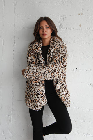 Native Daughters Maddy Leopard Coat