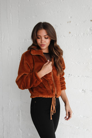 Lost Tonight Furry Bomber Jacket