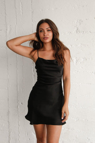 Manhattan Satin Mini Dress