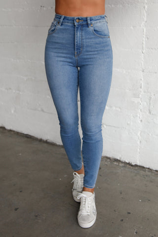 Rolla's Eastcoast Ankle Skinny Jeans In Ocean Blue