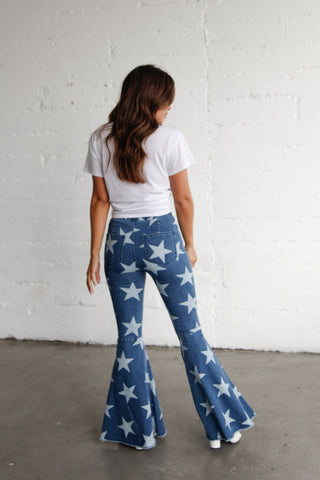 Native Daughters Shooting Star Denim Flares